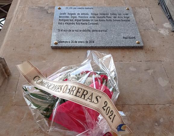 CCOO recuerda a los Abogados de Atocha y Serafín Holgado.