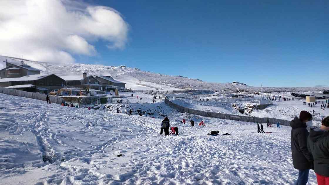 covatilla nieve turistas