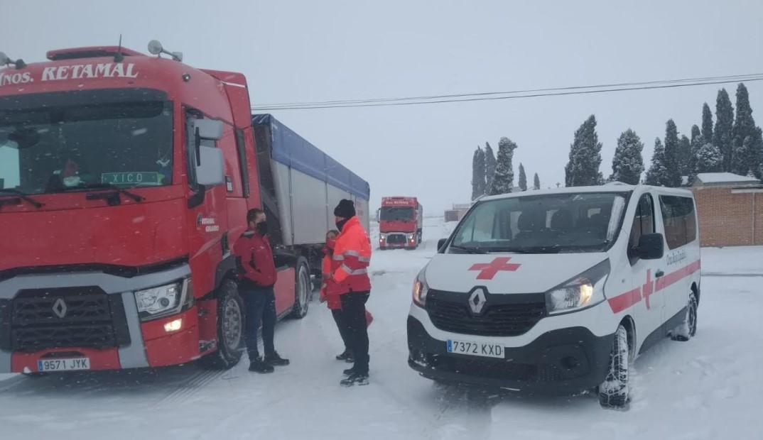 cruz roja camioneros embolsados peñaranda 2