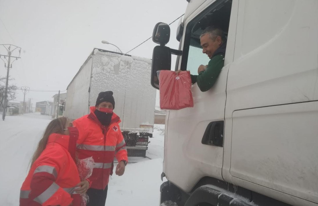 cruz roja camioneros embolsados peñaranda