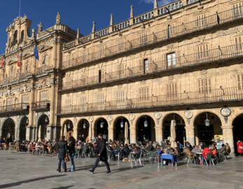 Las terrazas del sol de la Plaza Mayor.