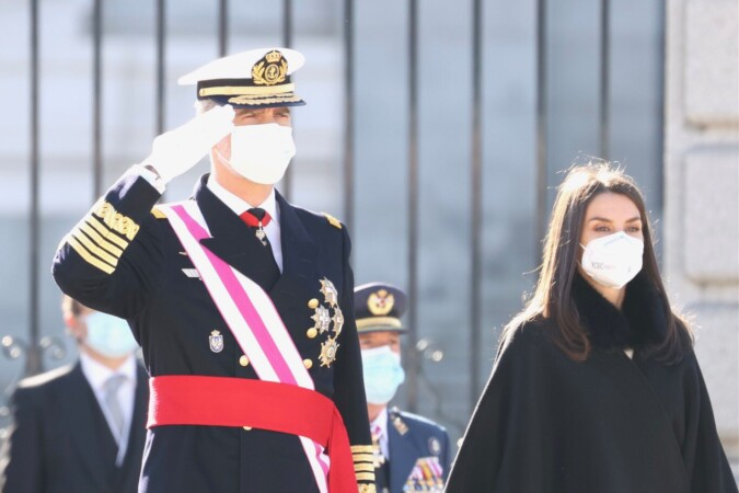 Los reyes, Felipe VI y Letizia, en la celebración de la Pascua Militar. Foto. Casa Real.