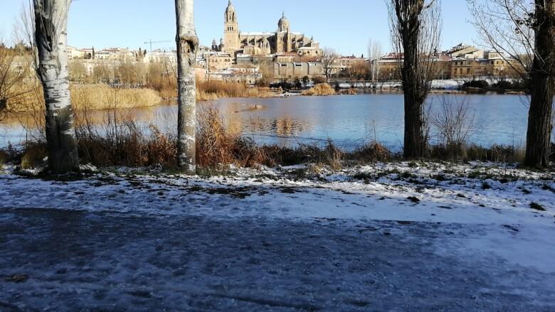 Salamanca con hielo, después del paso de Filomena.
