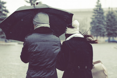 lluvia paraguas, frío