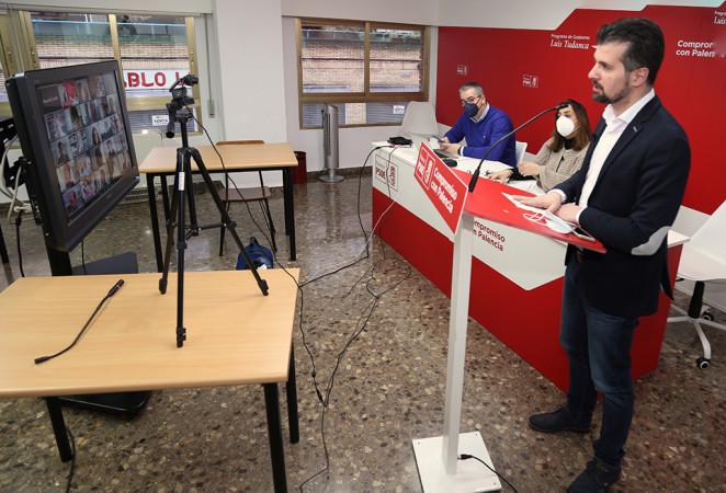 Brågimo / ICAL . El secretario general del PSOE de Castilla y León, Luis Tudanca