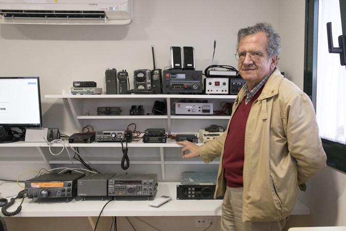 JESÚS FORMIGO / ICAL. José Andreu Muñoz-Orea es el presidente de la Unión de Radioaficionados de Salamanca