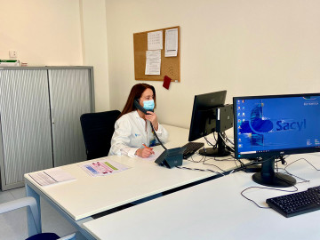ICAL. La coordinadora de Calidad del Hospital Universitario Río Hortega y responsable del Plan de Humanización CovidD-19 del centro, Mar Villacorta.