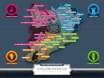 La 'batalla' que se libra en la Comarca de Ciudad Rodrigo en la Valuta Wars , creada por Chele Monstruos.