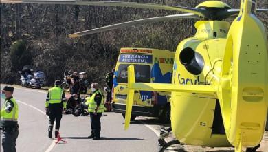 accidente trafico chocan dos motorista helicoptero sacyl