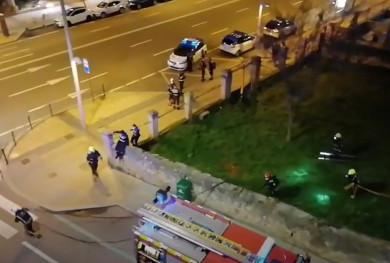 Bomberos y Policía Local acuden al Palacete del Pº de la Estación por un conato de incendio.