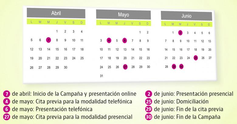 La campaña comenzará el 7 de abril y terminará el 30 de junio de este año