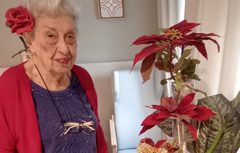 Carmen Bailón tiene 90 años y fue la primera fisioterapeuta de la Seguridad Social en Salamanca. Ahora vive en la residencia CleceVitam San Antonio.