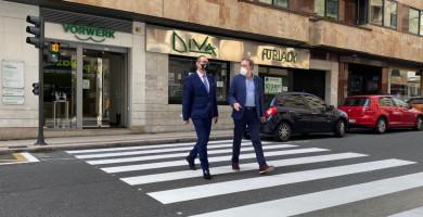 concejal trafico inaugura semaforos y paso peatones