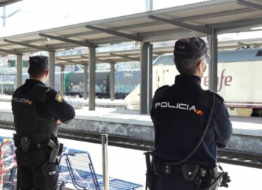 control policia nacional puente san jose estacion tren