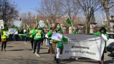 Manifestación organizada por Satse sindicato de Enfermería. FOTO. SATSE. ARCHIVO.