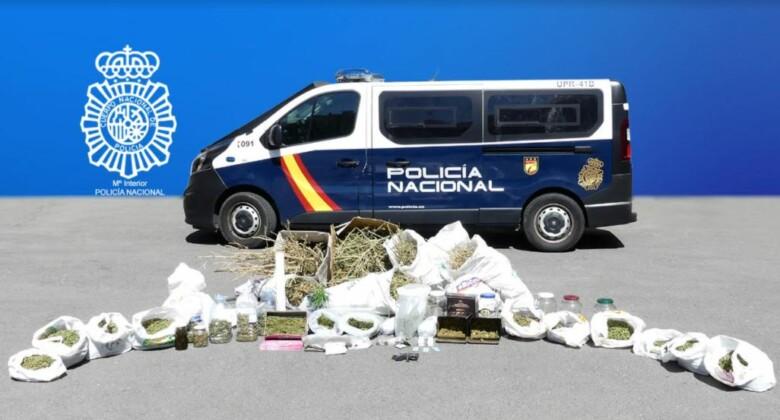 policia plantacion marihuana