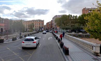 Puente de San Miguel, en Medina del Campo. Foto. Google.