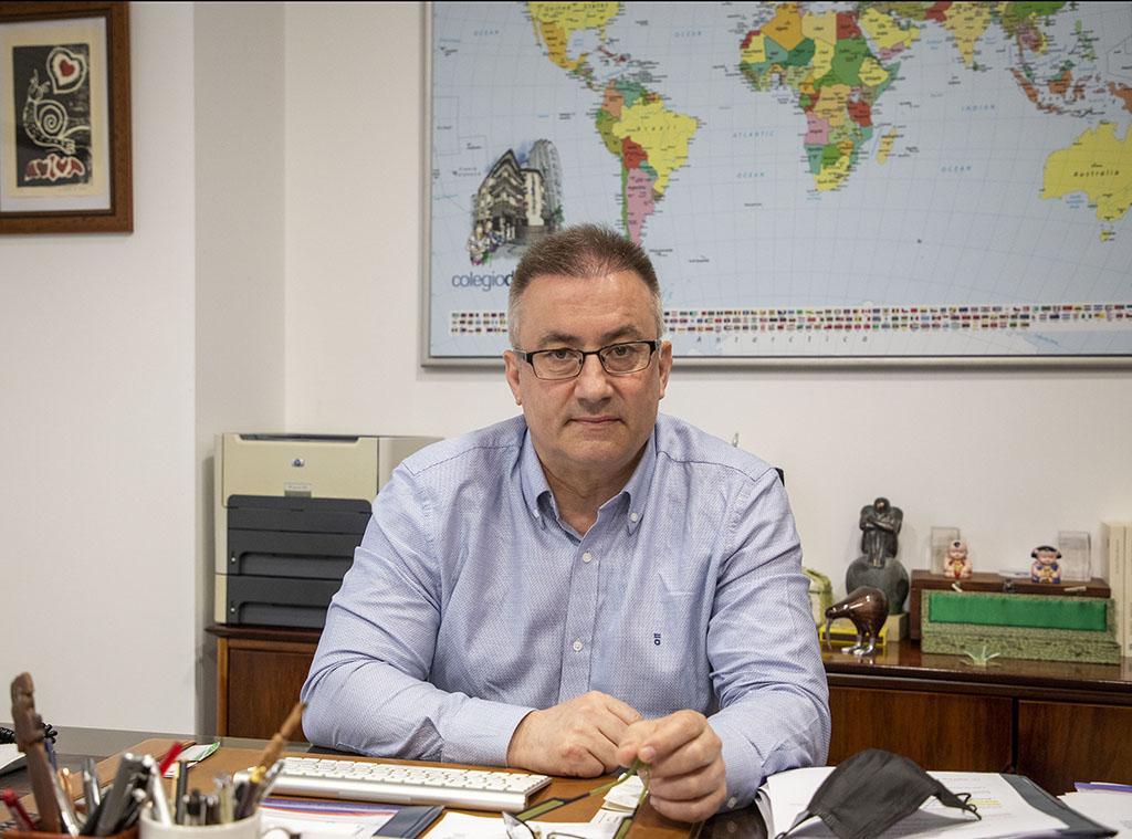 Susana Martín / ICAL. Miguel Ángel Benito, presidente de la Asociación de Escuelas de Español de Castilla y León (Aeecyl) y director del Colegio Delibes
