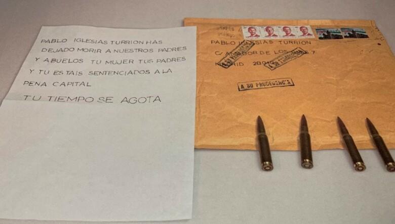 amenazas balas pablo iglesias