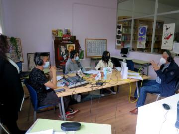 Jesús Málaga, en el programa de radio de Uribarri FM. (1)