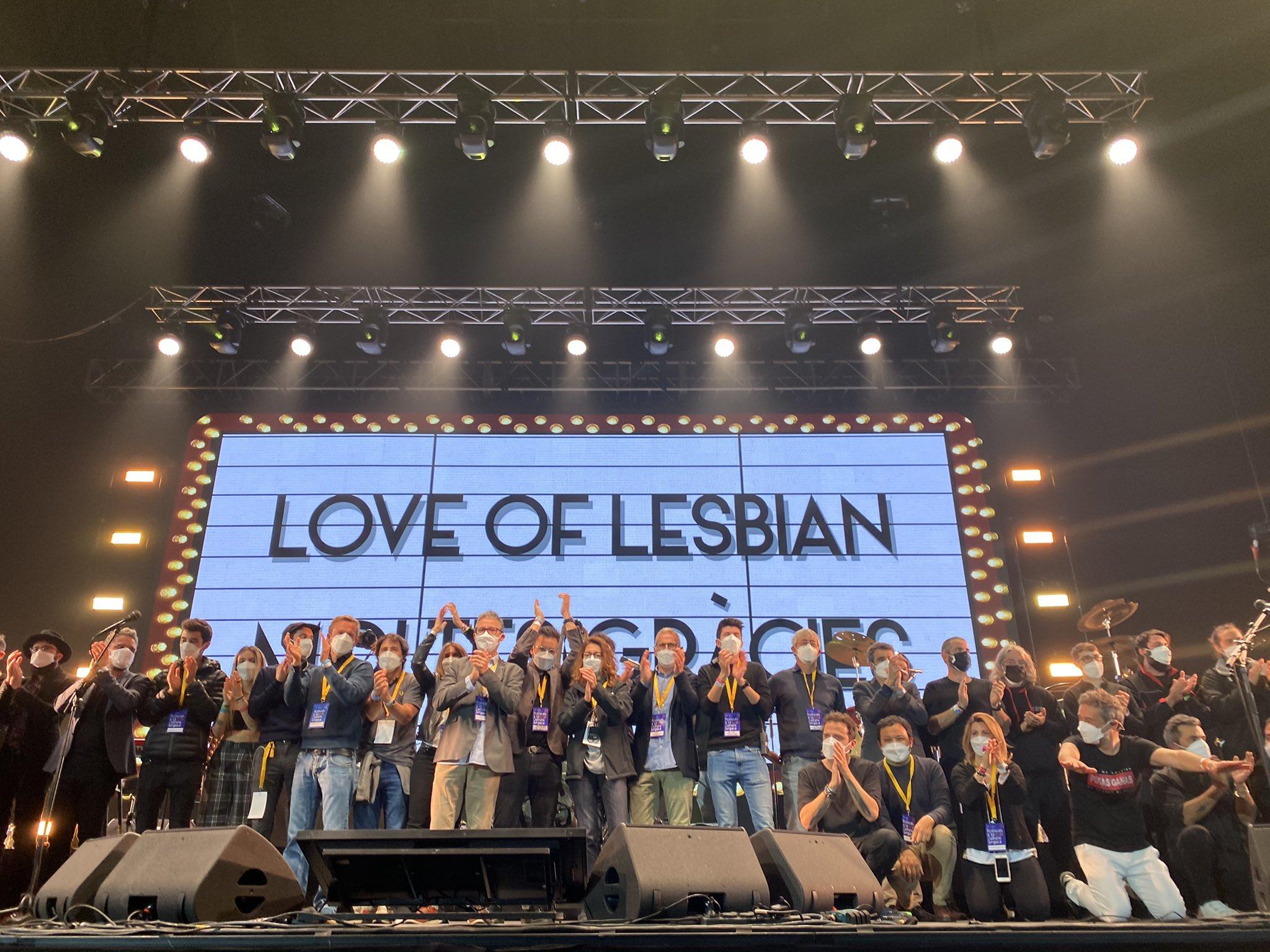 Concierto en Barcelona de Love of Lebiam. Foto. Fundació Lluita contra la #Sida i les Malalties Infeccioses.
