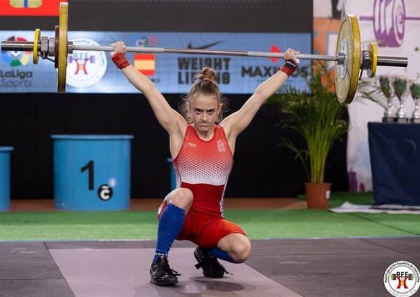 Marta García Rincón, campeona de España en tres modalidades de Halterofilia.