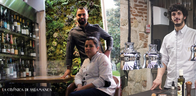 Rocío Parra y Alberto Rodríguez, dueños de 'En la Parra' y Carlos Hernández del Río, de ConSentido.