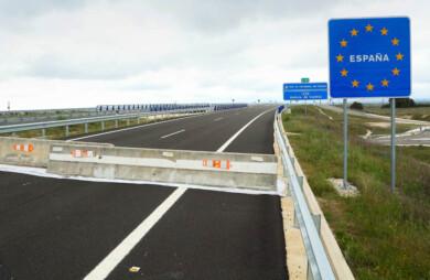 Isa Vicente / ICAL. Fotografías de uno de los tramos de la autovía en la zona portuguesa de Villar Formoso(Portugal),prácticamente las obras están terminadas, que conectará la IP-5 con la autovía A-62 en Fuentes de Oñoro(Salamanca)