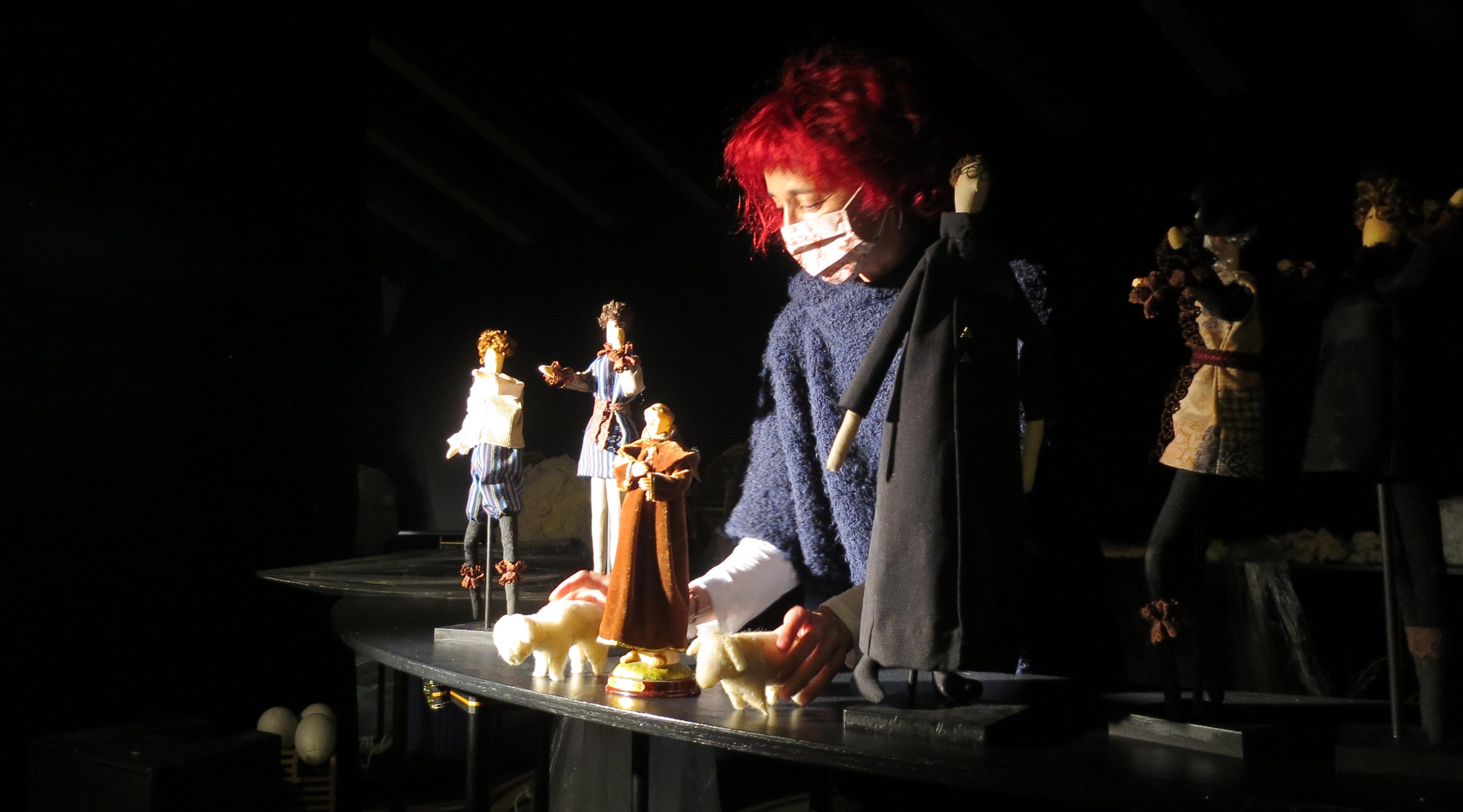 Ana Luz de Andrés, de La Chana Teatro, en el montaje de Los Comuneros.