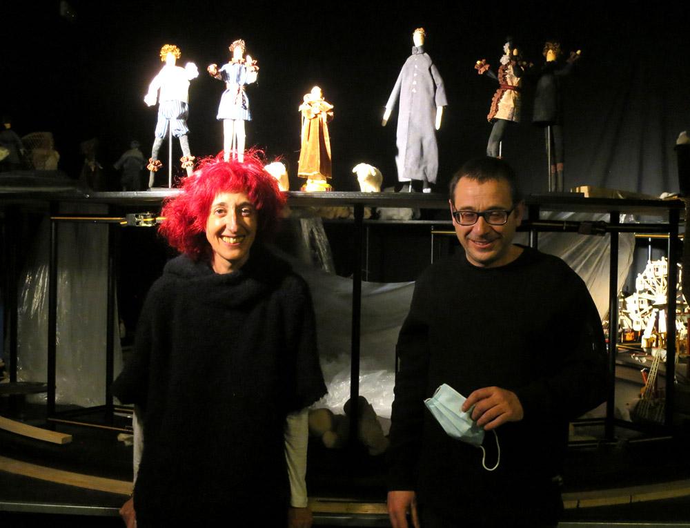 Ana Luz de Andrés y Jaime Santos, de La Chana Teatro.