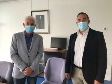 De izda a drcha. Marcelino Muños, secretario provincial de UGT, y Eloy Ruiz, delegado de la Junta de Castilla y León.