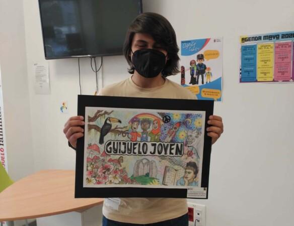 Hugo Sardón gana el I Certamen de pintura mural Guijuelo Joven.