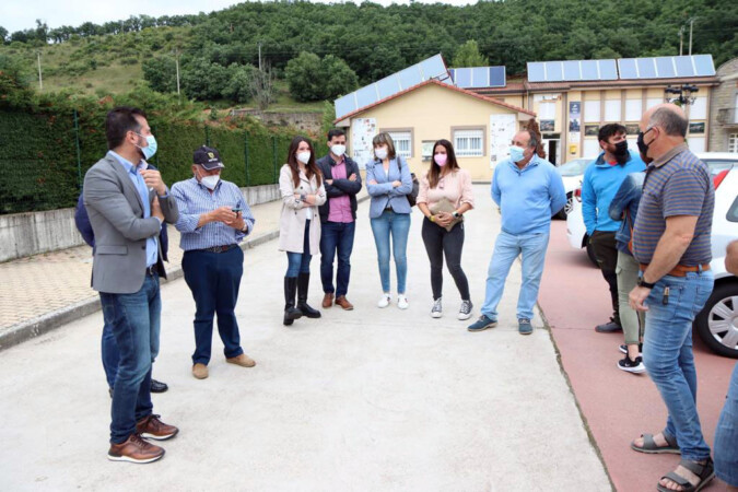 ICAL . El secretario general del PSOECyL, Luis Tudanca, mantiene un encuentro con alcaldes/as de la zona norte de León