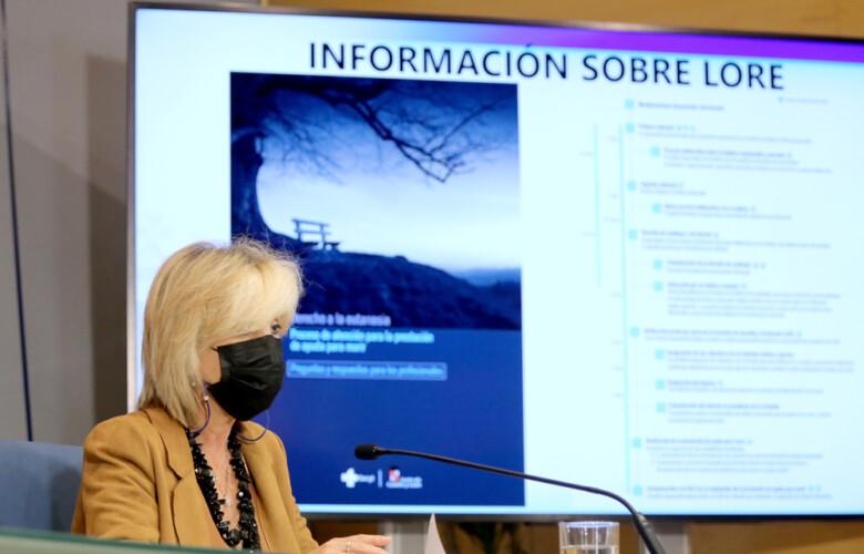 Leticia Pérez / ICAL . La consejera de Sanidad, Verónica Casado.