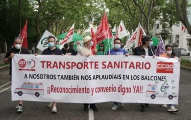 ambulancias protesta valladolid ical