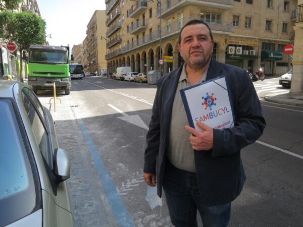 Ánggel Hernández, portavoz del sindicato de Trabajadores de Ambulancias de Castilla y León (4)