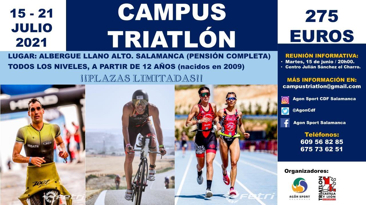 Cartel Campus Triatlón