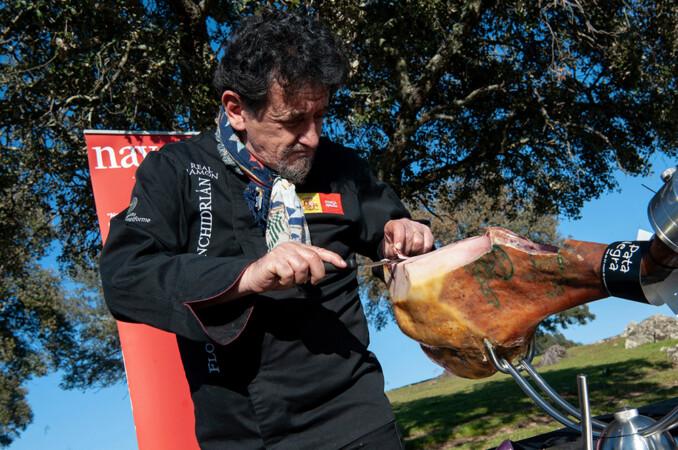 El abulense Florencio Sanchidrián, el embajador mundial del jamón ibérico.