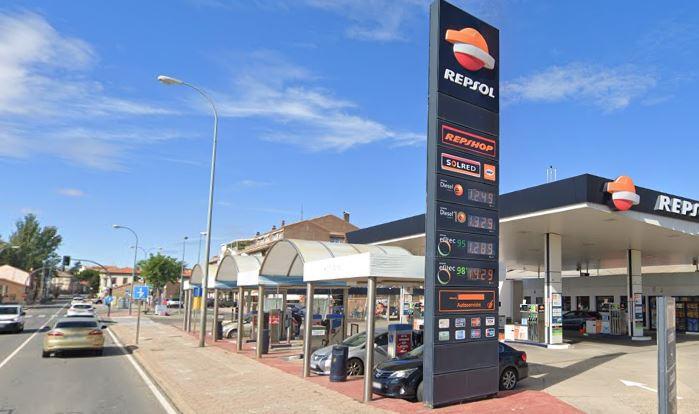 gasolinera carretera fregeneda tejares