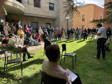 Homenaje a Nicolás Martín Sosa en la Facultad de Pedagogía.