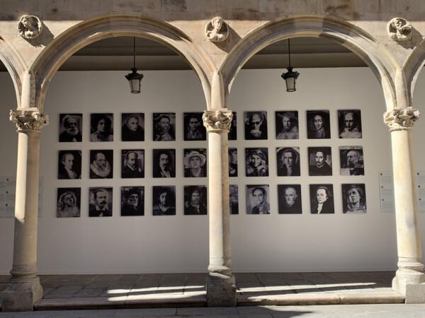 Exposición 'Poéticas de Salamanca', de Florencio Maíllo, que se puede ver en el patio de La Salina.
