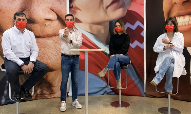 José Vaquero, Rafa Gasco, Alma Martín y Raquel Roncero, del Plan de Empleo de Cruz Roja.