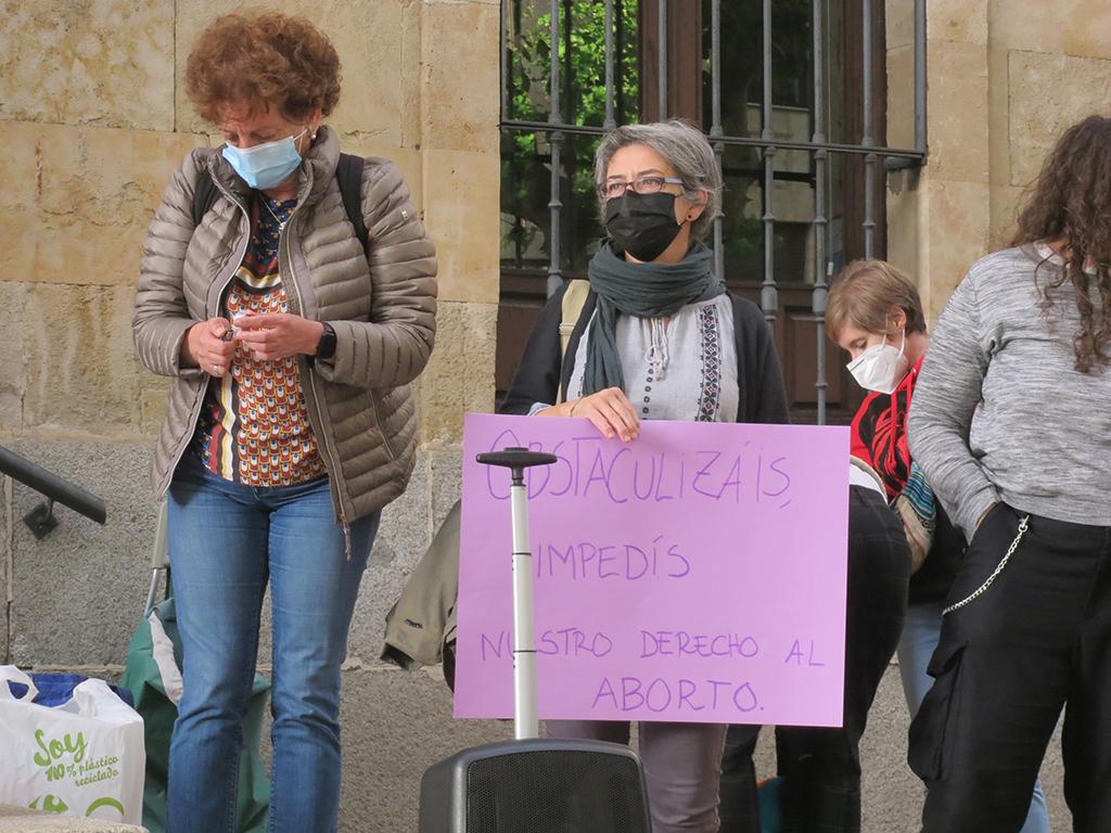 Movimiento Feminista de Salamanca, por un aborto digno, seguro, gratuito y sin desplazamiento. (5)