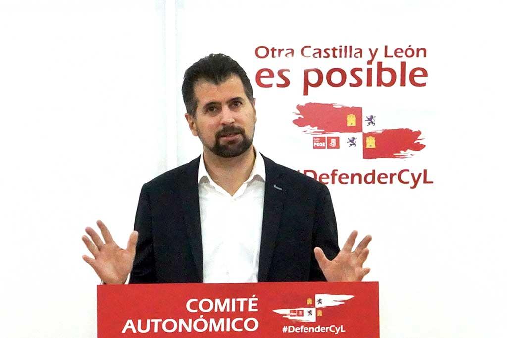 Miriam Chacón / ICAL. El secretario general del PSOE de Castilla y León, Luis Tudanca, interviene ante el Comité Autonómico.