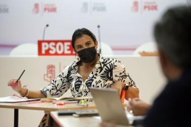 Rubén Cacho / ICAL . La secretaria de Organización del PSOECyL, Ana Sánchez