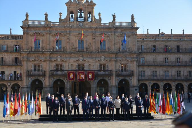 Conferencia de Presidentes en la Plaza Mayor de Salamanca.