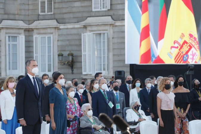 Los Reyes presidieron el acto de homenaje de Estado a las víctimas de la pandemia de la Covid-19 y de reconocimiento al personal sanitario