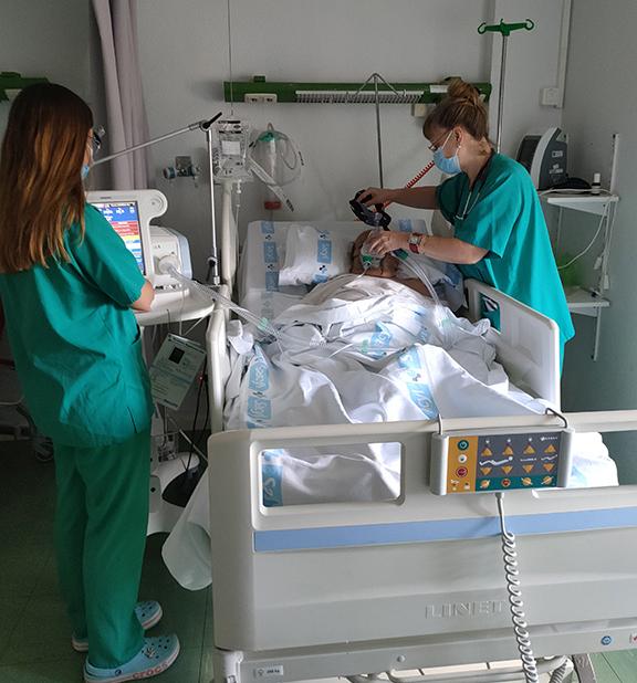 Unidad de Ventilación Mecánica no Invasiva en el Complejo Asistencial de Salamanca.