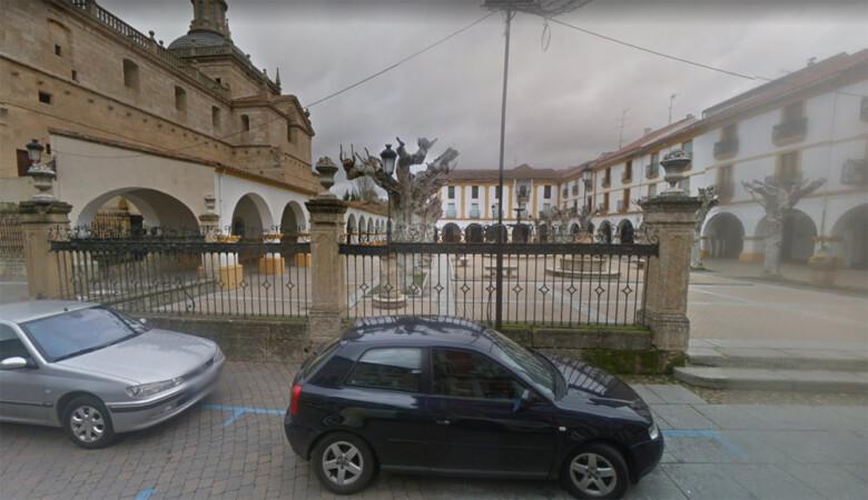 La plaza del Buen Alcalde, en Ciudad Rodrigo. Foto. Google Maps.