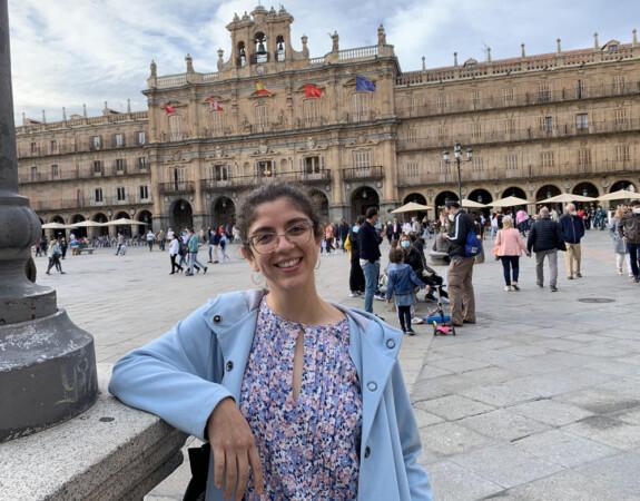 Laura Burgos, médico internista que realizó la residencia en el hospital de Salamanca.